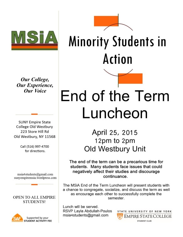 MSiA Flyer_End of the Term Luncheon