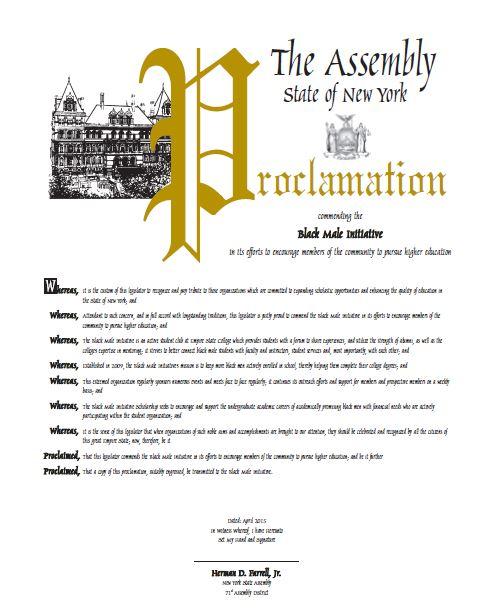 Proclaimation